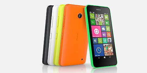 Nokia-Lumia-630 com capas coloridas