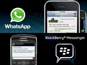 aplicativo whatsapp no Black Berry