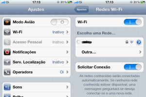 configurações do iphone 5