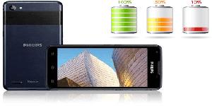 smartphone philips w6618 duração bateria