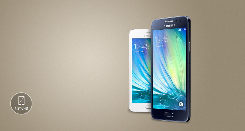 galaxy a3 tela frontal