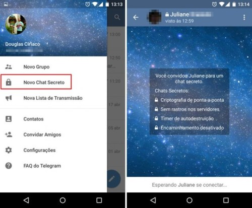 Aprenda a utilizar o Chat Secreto do Telegram CAPA