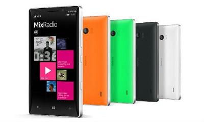 Nokia lumia 930 MixRadio 400 x 240