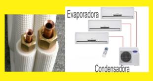 ar condicionado split e tubulação de cobre
